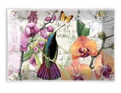 michel design works orchids-in-bloom glass soap dish