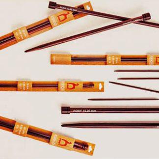 Pony Rosewood Knitting Needles ~ 9.00mm