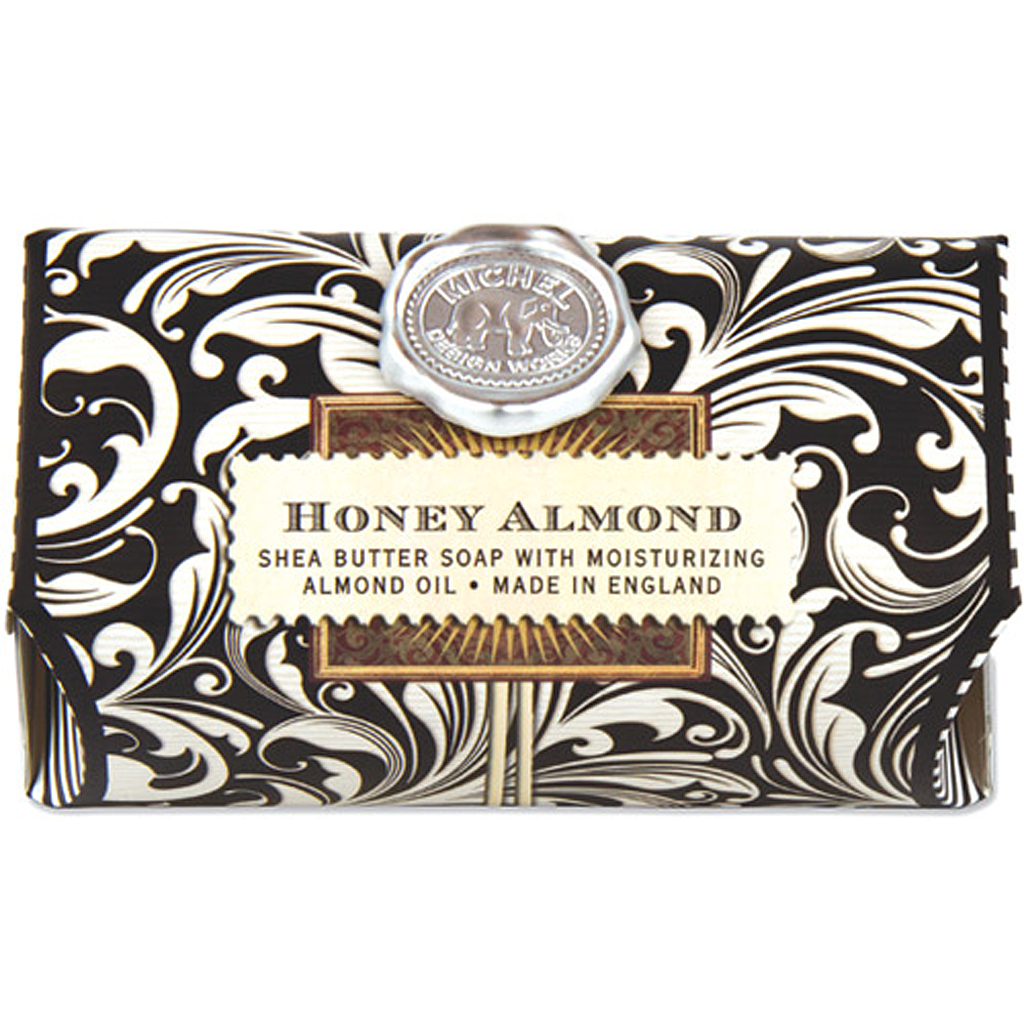 michel design works honey-almond glass soap dish