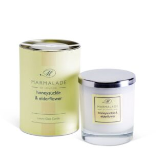 Marmalade Of London Large Glass Candle - Honeysuckle and Elderflower