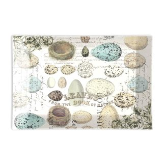 Michel Design Works Nest and Eggs Glass Soap Dish