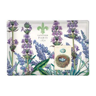 Michel Design Works Lavender Rosemary Glass Soap Dish