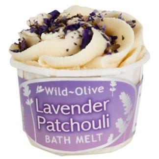 Wild Olive Lavender Patchouli Bath Melt