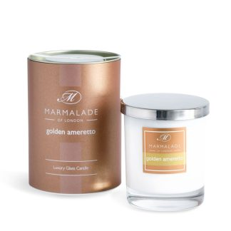 Marmalade Of London Large Glass Candle - Golden Amaretto