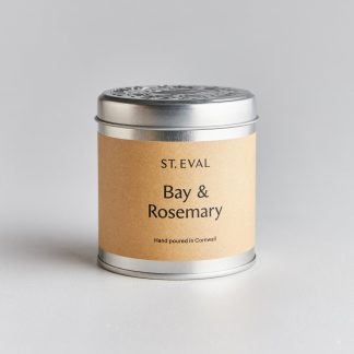 St Eval Bay & Rosemary Scented Tin Candle