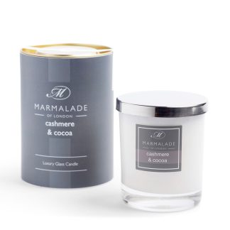 Marmalade Of London Large Glass Candle - Cashmere and Cocoa