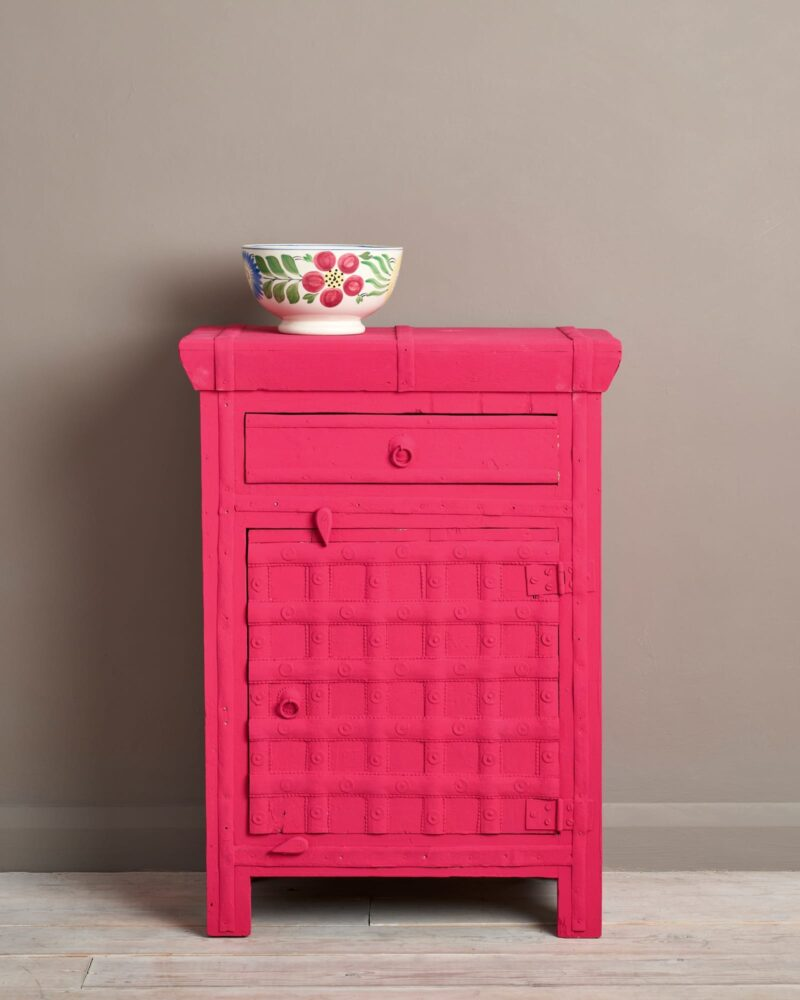 Bedside Cabinet painted in Annie Sloan Chalk Paint, Capri Pink