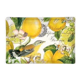 Michel Design Works Lemon Basil Glass Soap Dish