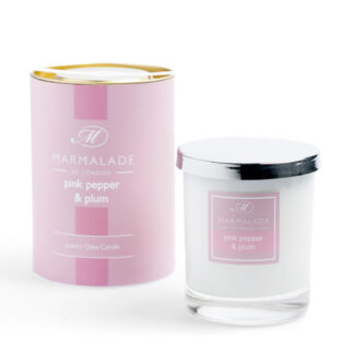 Marmalade Of London Large Glass Candle - Pink Pepper and Plum