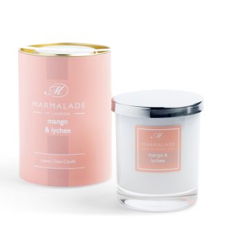Marmalade Of London Large Glass Candle - Mango and Lychee