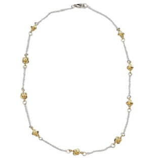Saphirim Rahav Gold Plated Multi Flower Necklace