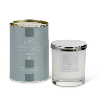 Marmalade Of London Large Glass Candle - Nordic Fir