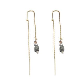 Saphirim Rahav Organic Pull Through Earrings