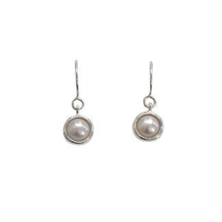 Saphirim Rahav Pearl Drop Earrings