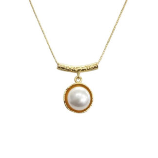 Saphirim Rahav Gold Plated Pearl Necklace