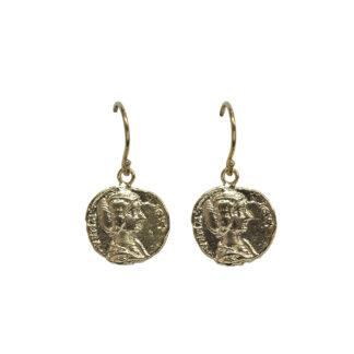 Saphirim Rahav Roman Coin Drop Earrings