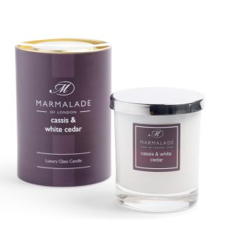 Marmalade Of London Large Glass Candles - Cassis and White Cedar