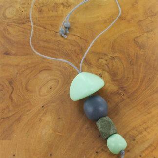 Suzie Blue BB6909ov Mixed Shape Resin Pendant Necklace
