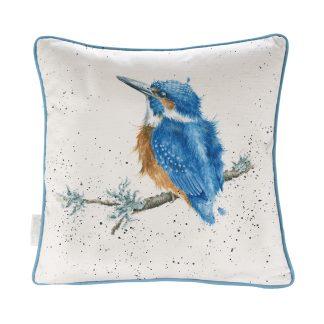 Wrendale Designs 'Make A Splash' Kingfisher Cushion