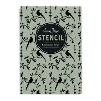 Annie Sloan Stencil Chinoiserie-Birds