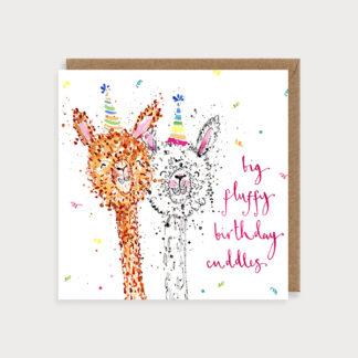 Fluffy Birthday Alpacas Card
