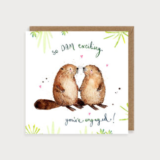 Dam Exciting Engagement Card