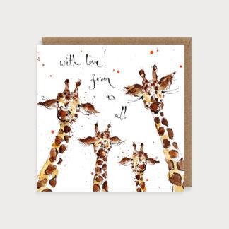Giraffe Family Love & Friendship Card