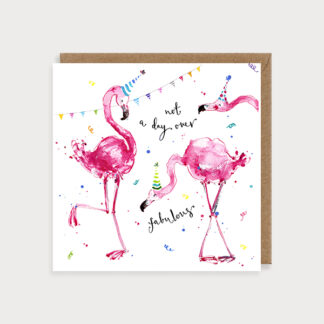 Fabulous Flamingos Birthday Card