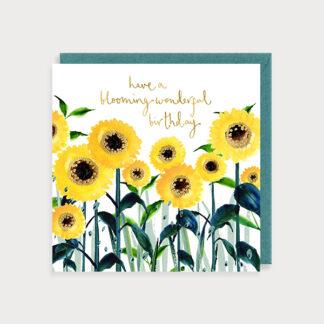 Birthday Sunflowers Card