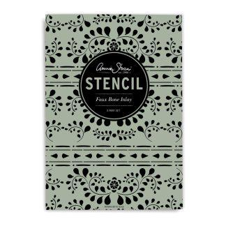 Annie Sloan Stencil Faux-Bone-Inlay