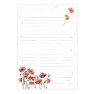 Wrendale Designs Mouse And Poppy Jotter Pad