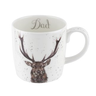 Wrendale Designs Large 'Dad' Stag Mug