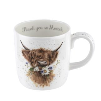 Wrendale Designs Large 'Thank you' Cow Mug