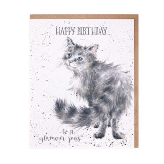 Wrendale Designs 'Glamour Puss' Birthday Card