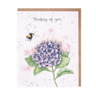 Wrendale Designs 'Hydrangea Bee' Card