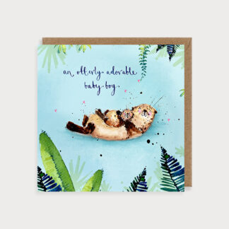 Baby Boy Otters Card