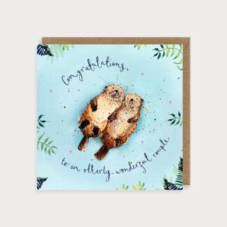 Congratulations Otter Couple Card