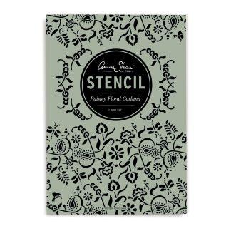 Annie Sloan Stencil Paisley-Floral-Garland