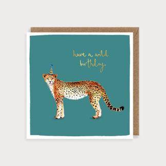 Cheetah Safari Birthday Card