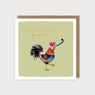Birthday Cockerel Card