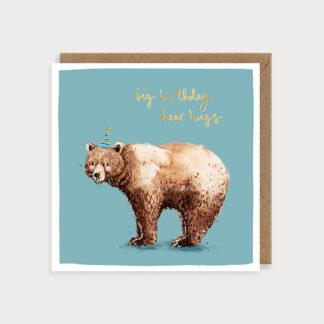 Brown Bear Birthday Card