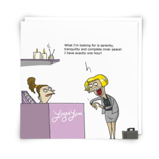 'Yoga' Greeting Card