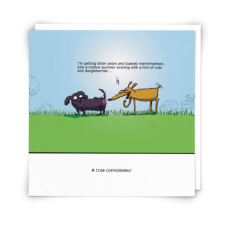 'Connoisseur' Greeting Card