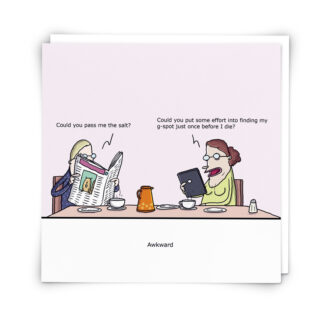 'Awkward' Greeting Card