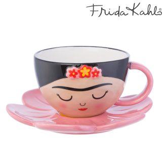Frida Cup and Flower Saucer Set