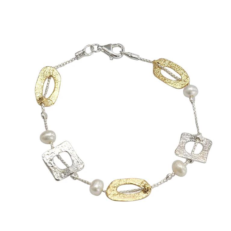 Saphirim Rahav Two Colour Pearl Bracelet