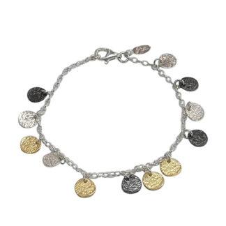 Saphirim Rahav Multi Disk Charm Bracelet