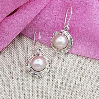 Hagit Designs Silver Pearl Drop Earrings