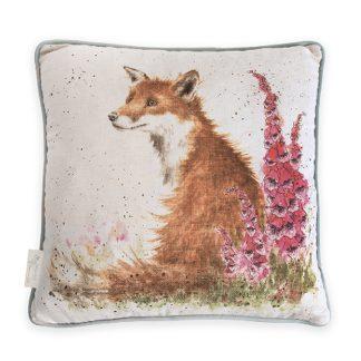 Wrendale Designs 'Foxgloves' Fox Cushion