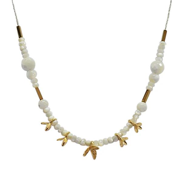 Saphirim Rahav Gemstone Flower Necklace